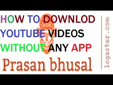 HOW TO DOWNLOD YOUTUBE VIDEOS WITHOUT ANY...