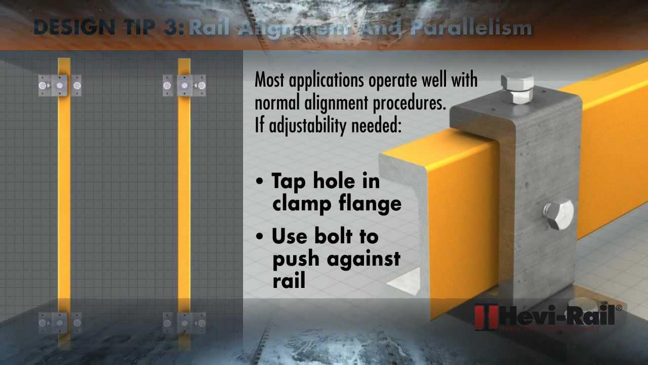 Hevi Rail Heavy Duty Roller Bearing Design Tips Youtube