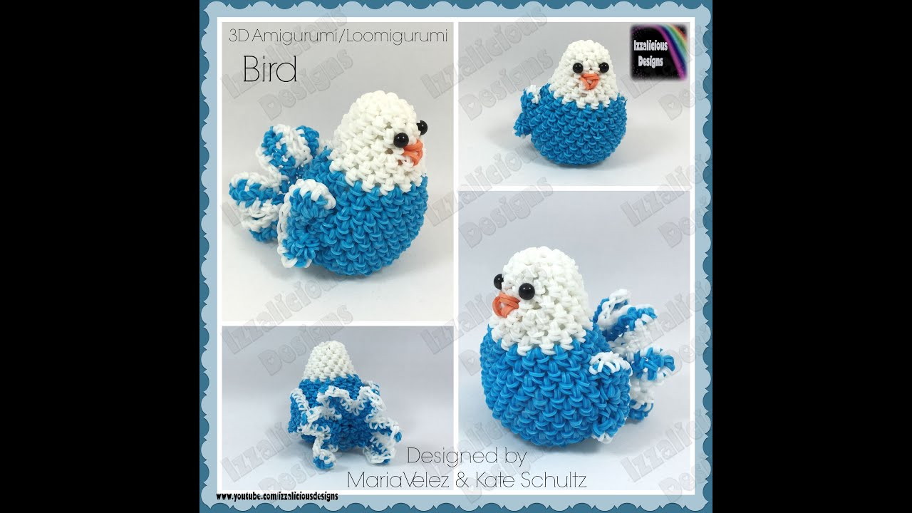 Amigurumi Lalylala : Rainbow Loom Bird Loomigurumi Amigurumi 3D Toy - crochet ...