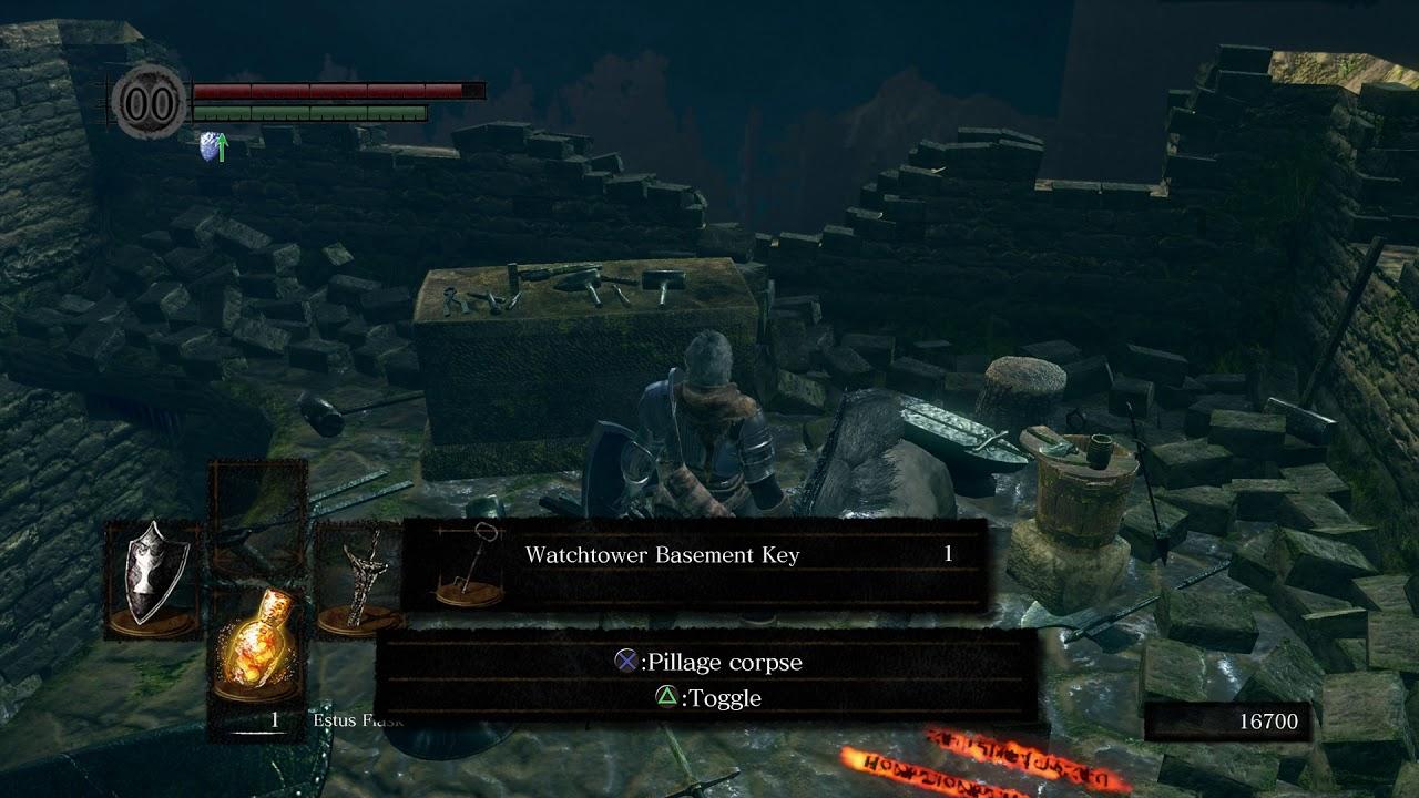 Dark Souls R Darkroot G Dead Blacksmith Watchtower Basement Key
