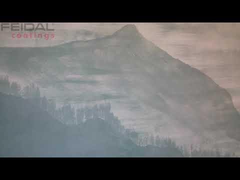 Оформление детской комнаты своими руками! Как нарисовать горы в тумане, материалами FEIDAL!