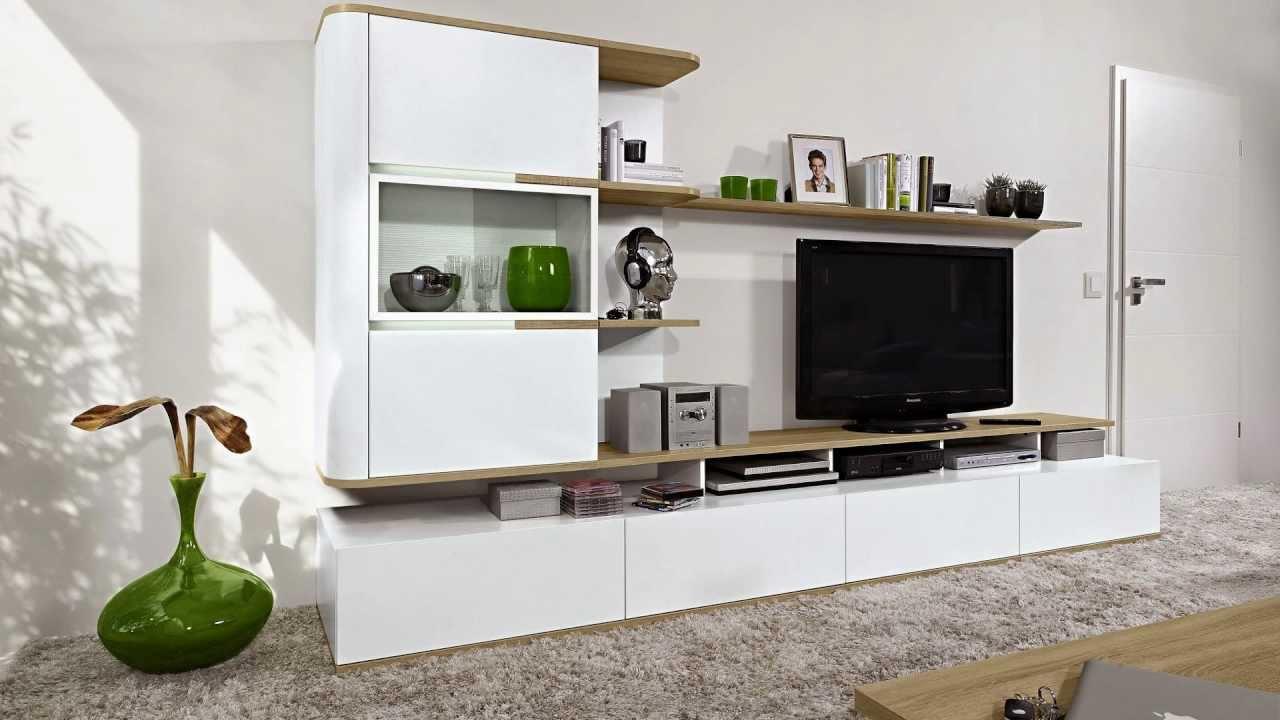 мебель для гостиной белая сделано в германии Arte M серия Round