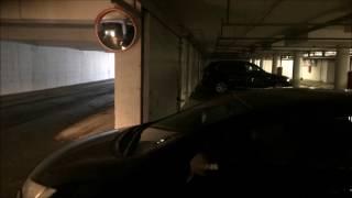 Установка обзорного сферического зеркала. Подземная автопарковка. Тополинка.