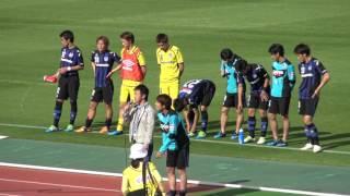 2得点を決めた小川直毅のヒーローインタビュー J3 16.5.8 ガンバ大阪U-23 vs 藤枝MYFC