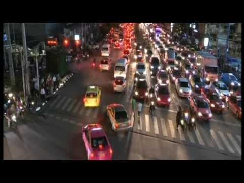 Bangkok City Traffic rot tit รถติด