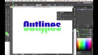 Adobe Illustrator: creating outlines on text.