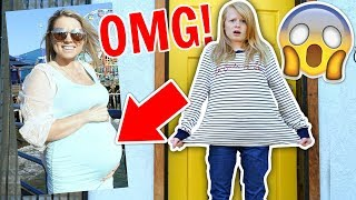 I WORE MY PREGNANT MUM'S CLOTHES FOR A DAY! 😱 *In public*
