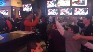 Chiefs/Patriots Fans Reaction to Rex Burkhead Game Winning Touchdown! - (AFC Conference Champions)