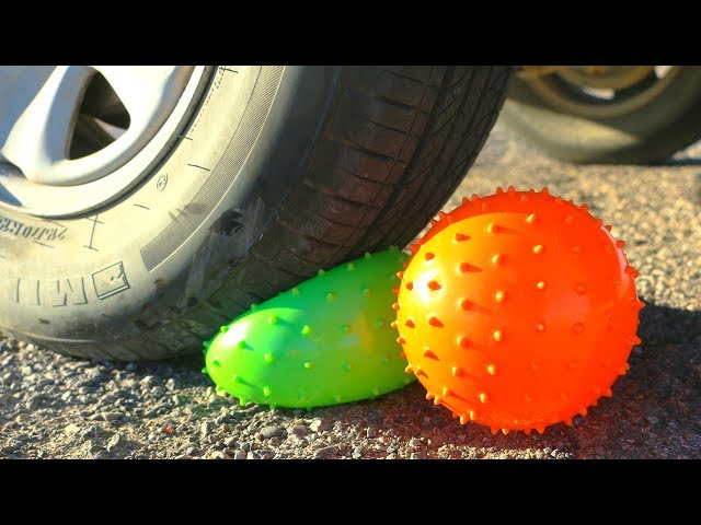 Trying to Crush Crunchy & Soft Things by Car! Floral Foam, Squishy and More! by HelloMaphie