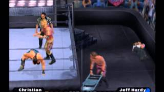 Jericho & Christian vs RVD & Jeff Hardy (Elimination Tornado Tag) - WWE Smackdown! SYM [PS2]