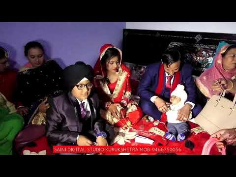 HARPINDER SINGH WEDS GURPREET KAUR WEDDING LIVE VIDEO BY SAINI DIGITAL PHOTO STUDIO MOB :-9466750056