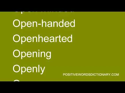 Positive words That Start with O   Positive words starting with O