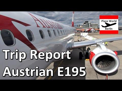 Trip Report   Austrian Airlines Embraer 195   Economy   VIE - TXL