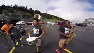 Funky Dawgz Brass Band second line @ Grandfather Mountain. NC