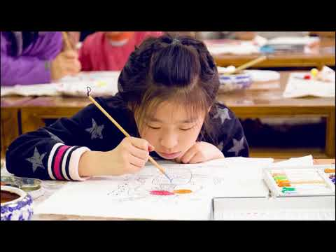 Painting Chinese New Year Woodblock Prints (Nianhua) in Beijing, China