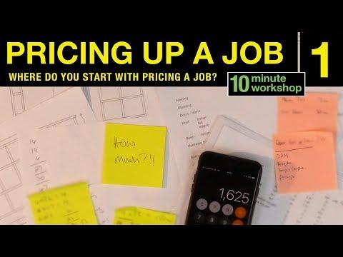 Pricing up a job, Part 1