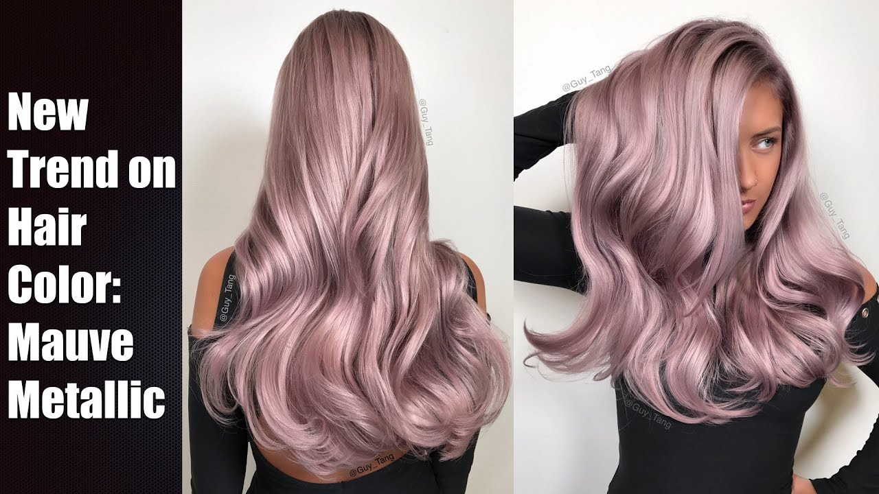 mauve metallic hair color