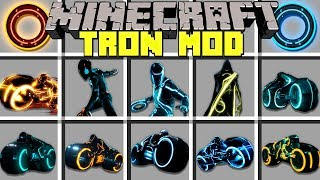 Minecraft TRON MOD l TRAVEL TO TRON DIMENSION TO BECOME TRON! l Modded Mini-Game