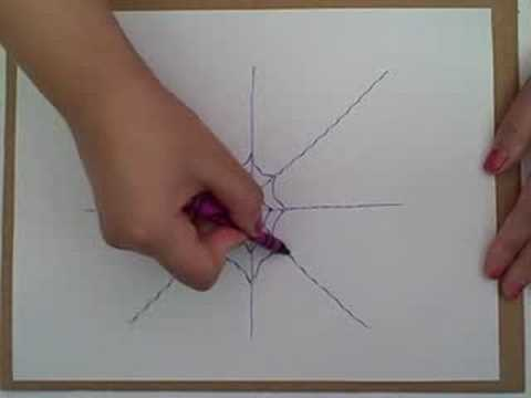 How To Draw A Spider Web Youtube