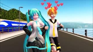 【MMD】Viva Happy ビバハピ 【MikuxLen/レン・ミク】