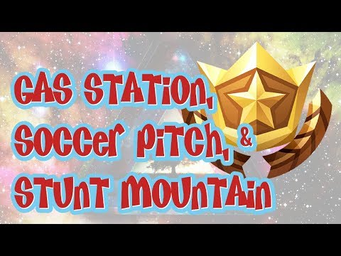 Fortnite | Search Between Gas Station, Soccer Pitch And Stunt Mountain Location | Season 5 Challenge