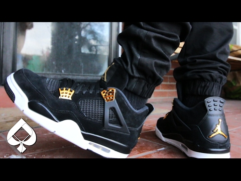 246a1e4d633 Air Jordan 4 Royalty ON-FEET (5 Pants) - YouTube