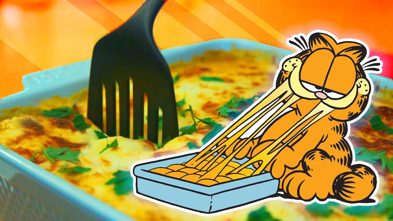 How To Make Garfield S Lasagna Feast Of Fiction Youtube