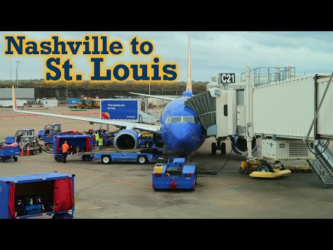 Full Flight: Southwest Airlines B737-700 Nashville To St. Louis (BNA-STL)