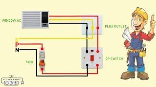 Window Ac Wiring Diagram Video Youtube