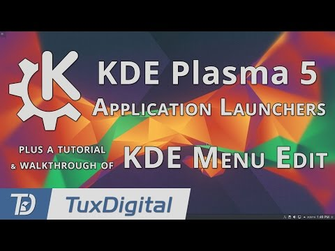 Plasma 5 Application Widgets and Managing Your Applications with KDE Menu Edit