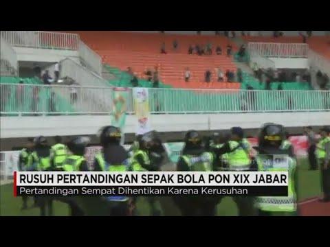 PON Jabar 2016 : Rusuh di Pertandingan Sepakbola Tim DKI Jakarta Vs Jabar