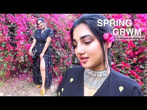 WHEN YOU ARE RUNNING LATE GRWM | CHATTY & REALISTIC | VISHAKHA THAKUR