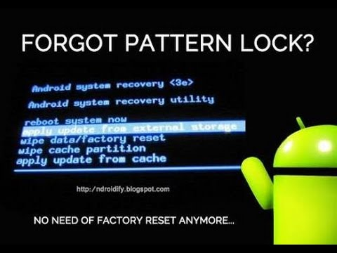 Unlock pattern or pin lock without any data loss!!!!