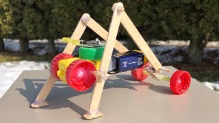 HOW TO MAKE AMAZING DIY ROBOT (Walking Robot)