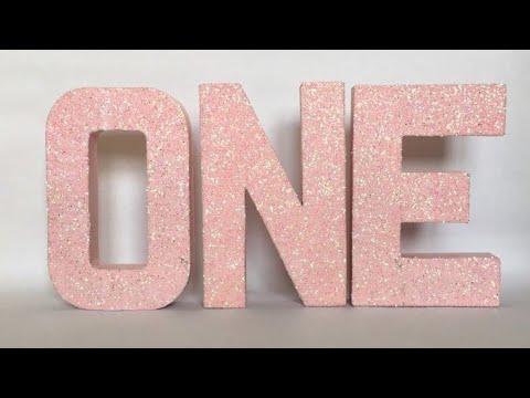 DIY How To Make Block Letters | Cardboard  Craft | Room Decoration 2017