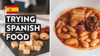 IS SPANISH FOOD GOOD? Ultimate Northern Spain Food Tasting   Asturias Travel Vlog