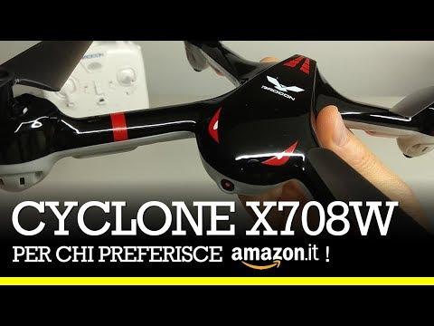 CYCLONE X708W - Drone per iniziare, su Amazon! drone per imparare, drone economico su  Amazon