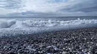 Фото Абхазия черное море зимний мощный  шторм