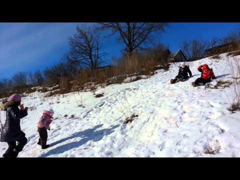 Зимние забавы в деревне Подосинки Липецкой губернии
