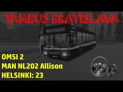[1080p/60] OMSI 2 - MAN NL202 - Helsinki - 23 - RAIN