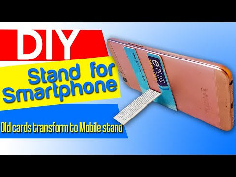 How To Make Mobile Phone Stand From A Credit Card Youtube
