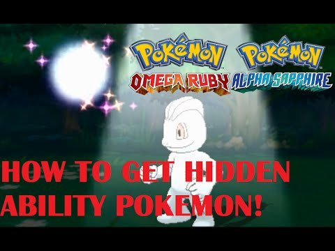 Pokemon Omega Ruby, Alpha Sapphire, X and Y HOW TO CATCH/FIND POKEMONS WITH HIDDEN ABILITY, HORDES!