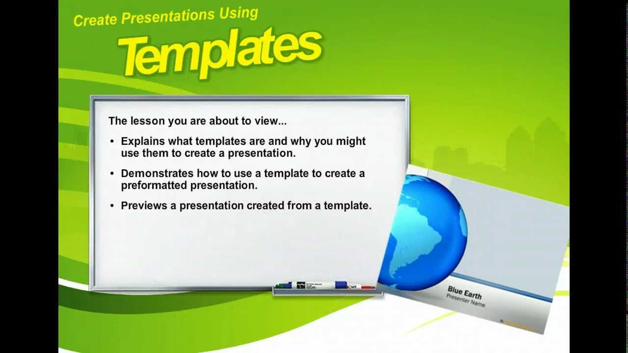 powerpoint 2010 create presentations using templates microsoft office 2010 training youtube