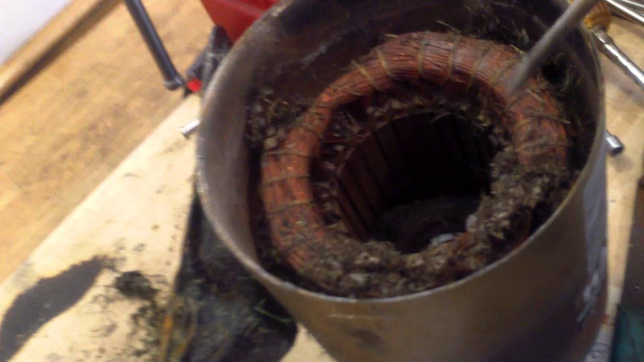 Dirty Hayward Power Flo Electric Motor Windings Youtube