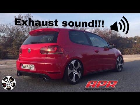 GTI MK6 DSG Sound non resonated exhaust, Stage 1 Apr