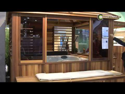 clair azur construire un gazebo pour un spa youtube. Black Bedroom Furniture Sets. Home Design Ideas