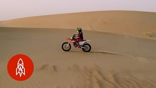 Dirt Biking Through Dubai's Sand Dunes