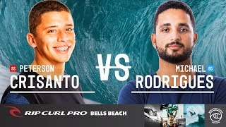 Peterson Crisanto vs. Michael Rodrigues - Round of 32, Heat 2 - Rip Curl Pro Bells Beach 2019