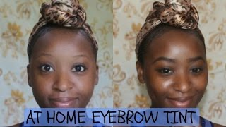 DIY EYEBROW TINTING, IT REALLY WORKS!!!