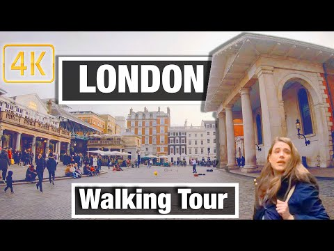 4K City Walks: London - Covent Garden  - Virtual Walk Walking Treadmill Video City Tour & Guide